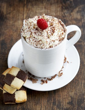 Chocolat chaud façon tiramisu pour 1 personne