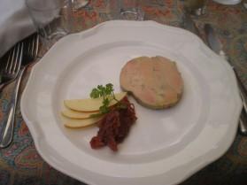 Foie gras au confit d'oignons pour 1 personne
