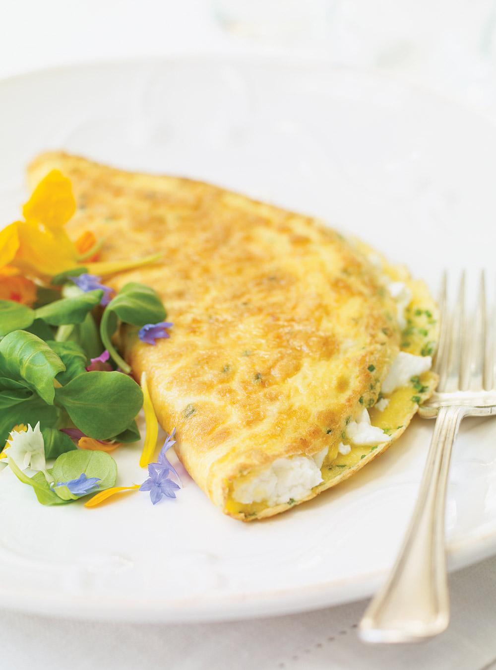 Omelette au chèvre frais | ricardo