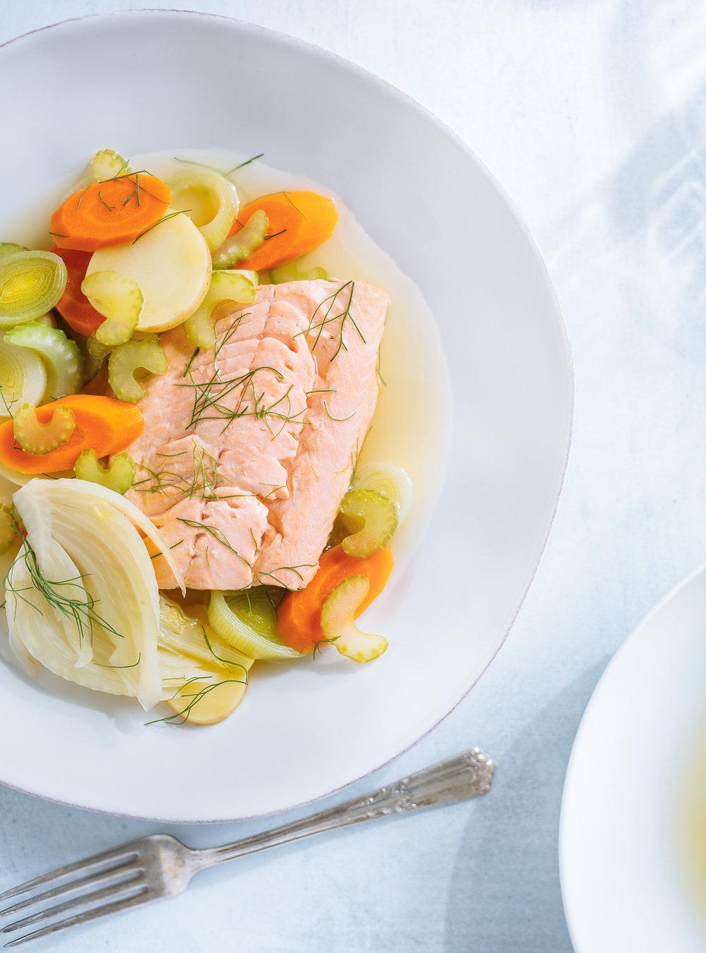 Poisson et légumes au court-bouillon | ricardo