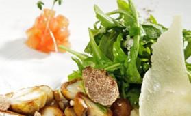 Salade de roquette aux truffes et au vinaigre de vin blanc pour 4 ...