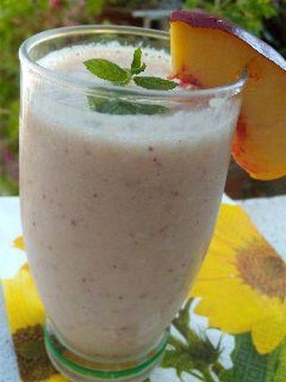 Recette de smoothie nectarine et menthe