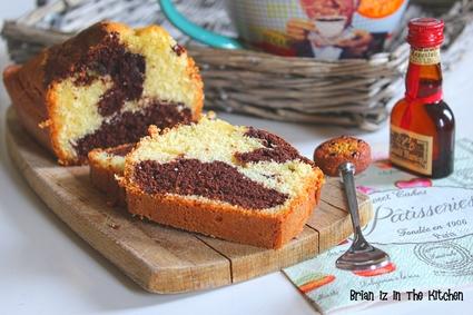 Recette de cake marbré chocolat et grand marnier