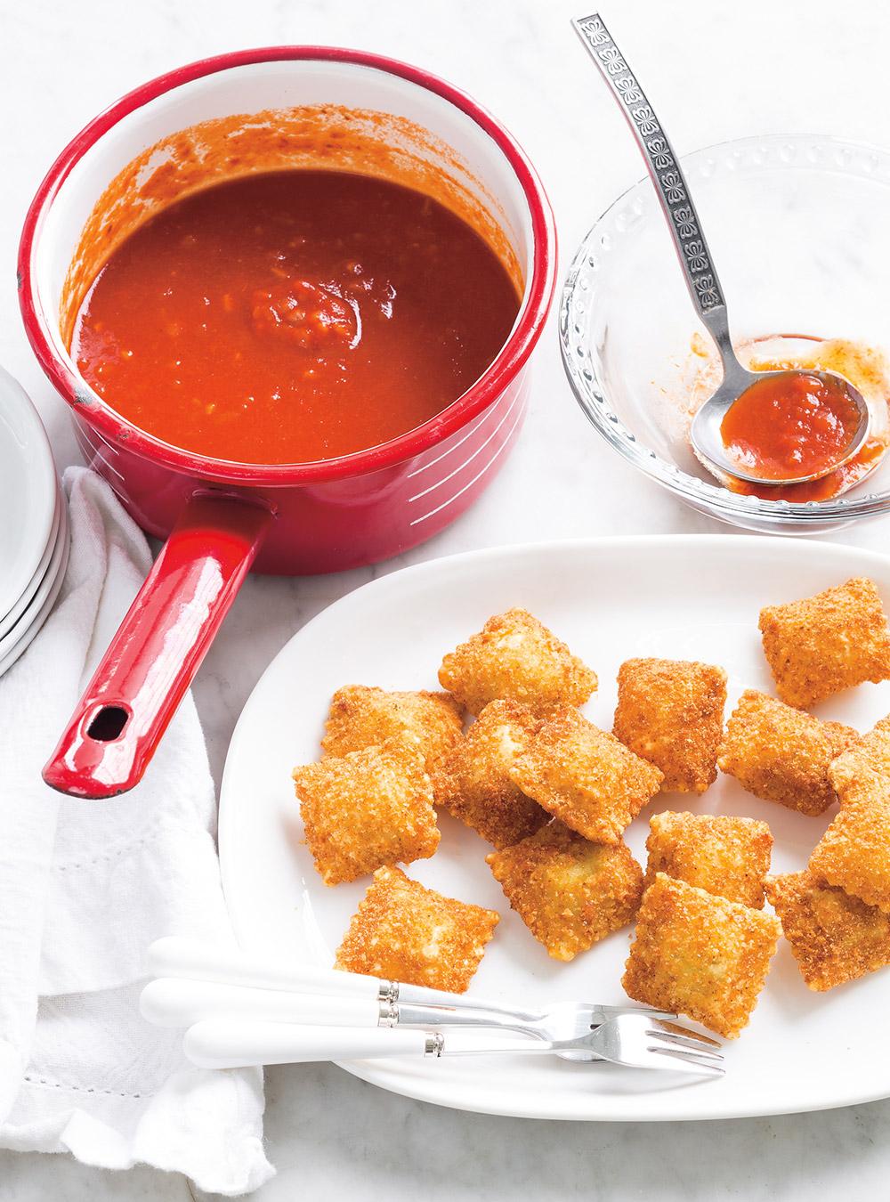 Raviolis frits, sauce marinara | ricardo