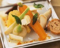 Recette jeunes légumes de saison croquants avec copeaux de ...
