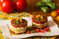 Recette de tartare de tomates et mozzarella en mille-feuille