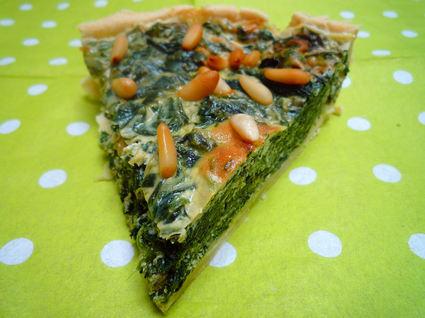 Recette de tarte épinards, ricotta et pignons
