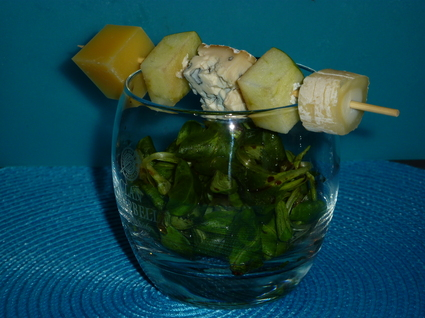 Recette de brochette de fromage au pomme