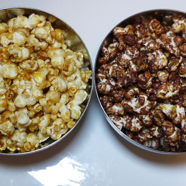 Recette pop corn caramel vs pop corn chocolat