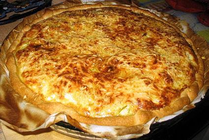 Recette de tarte courgettes, chèvre, cumin, saumon