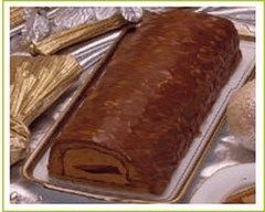 Recette bûche au chocolat noir et marrons