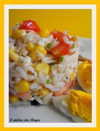 Recette de salade de riz et crabe