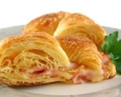 Recette croissants au jambon et crème fraîche