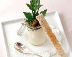 Recette mousse de chou-fleur au caviar, coulis d'herbes
