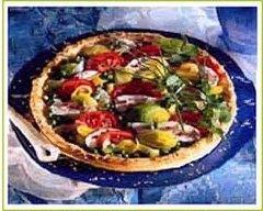 Recette tarte au poulet, poireaux et tomates