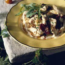 Poulet à l'estragon et tomates séchées