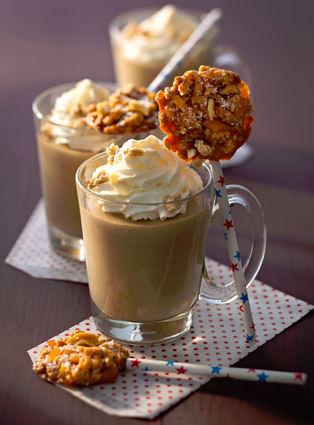 Recette de mousse de cappuccino et sucette de muesli