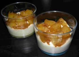 Verrines d'ananas confit miel-vanille et mascarpone pour 6 ...