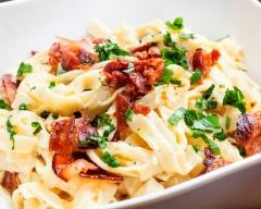 Recette tagliatelles au bacon et tomates séchées