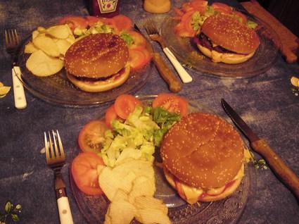 Recette de hamburger américain au pain de viande maison