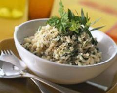 Recette risotto aux herbes et aux câpres