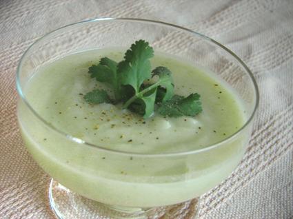 Recette de velouté de jade (courgettes et patates douces)