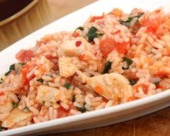 Recette risotto minceur au poulet et aux herbes de provence