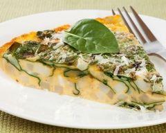 Recette omelette aux poireaux et épinards au four