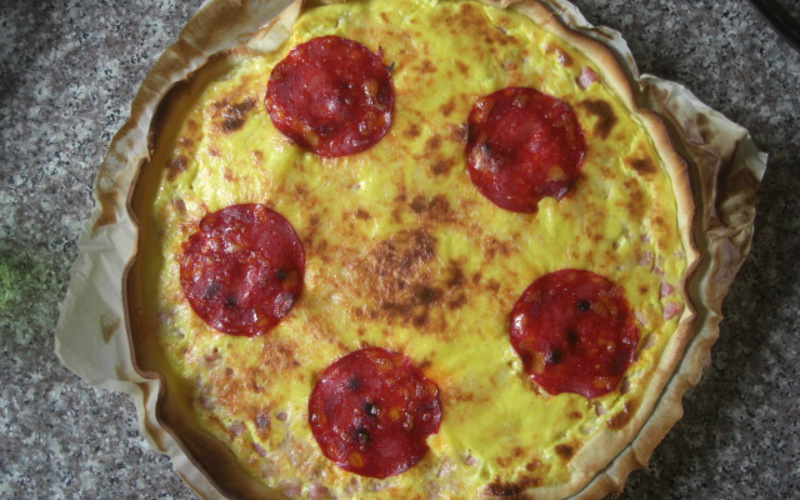 Recette quiche jambon fromage chorizo pas chère et facile ...