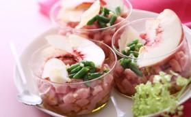 Tartare de veau amandes fraiches jus de peche pour 4 personnes ...