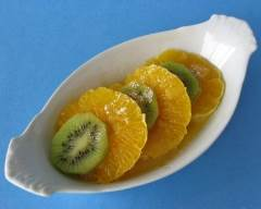 Recette kiwis et oranges au sabayon gratiné