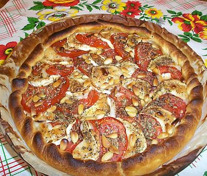 Recette de tarte chèvre-tomate