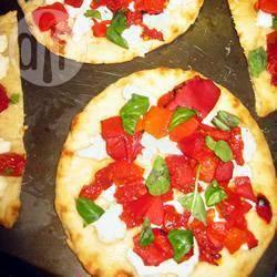 Recette pita aux tomates séchées, aux poivrons rouges et au ...