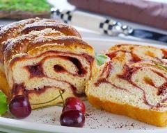 Recette gâteau zébré à la vanille et confiture de cerises