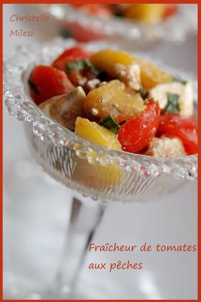 Recette de fraîcheur de tomates aux pêches