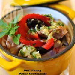 Recette cocotte de veau aux légumes d'été et pesto au pilon ...