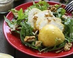 Recette salade aux poires et aux noix