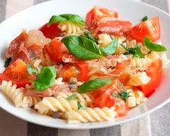 Recette salade de pâtes à l'italienne au jambon cru