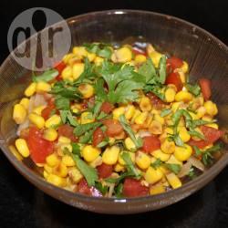 Recette salade de maïs, tomates et basilic – toutes les recettes ...