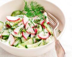 Recette salade de radis et de concombre