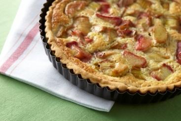 Recette de tarte à la rhubarbe facile et rapide