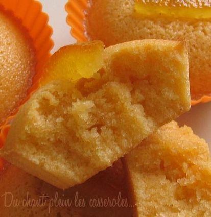 Recette de financiers au beurre salé et à l'orange confite