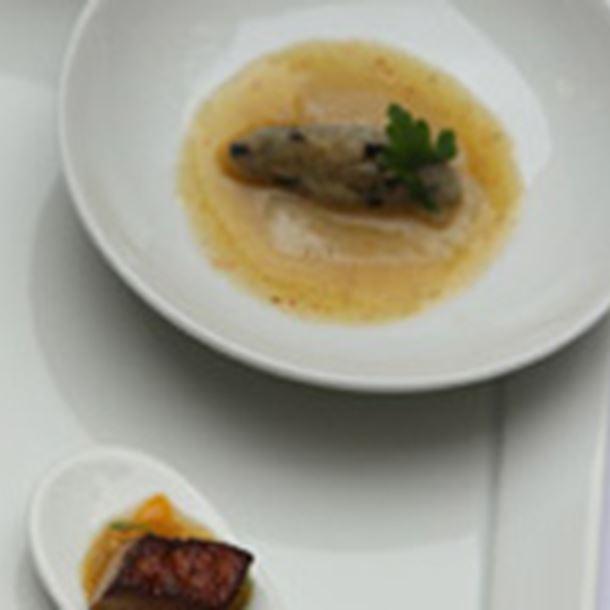 Recette foie gras et sa st jacques au champagne