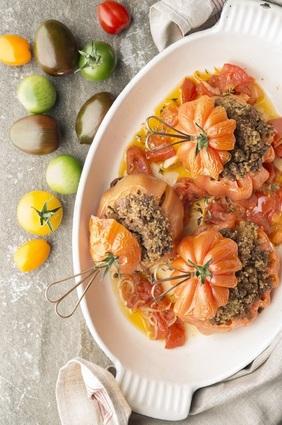 Recette de tomates farcies au quinoa et tofu