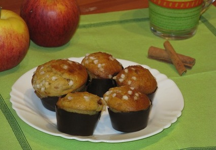 Recette de muffins pommes-cannelle deluxe de lili
