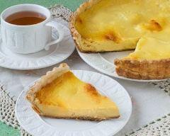 Recette tarte sablée au flan à la vanille