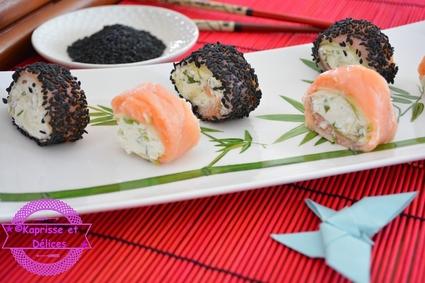 Recette de roulés au saumon façon maki