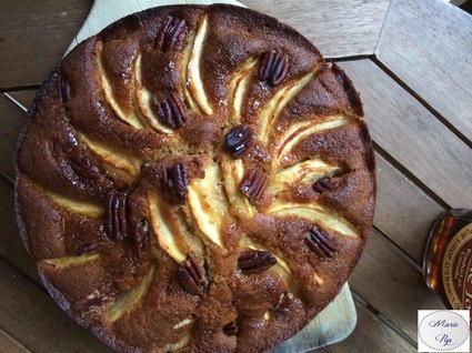 Recette de gâteau automnal aux pommes et noix de pécan