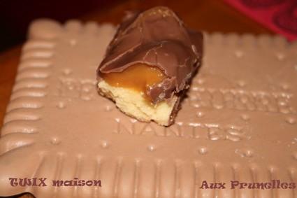 Barre chocolatée au caramel
