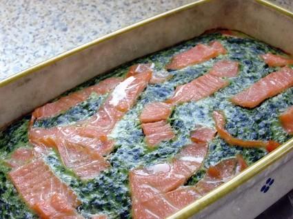 Recette de flan d'épinards au saumon fumé